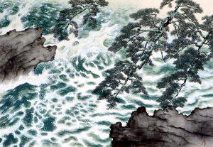 【掲載写真01】「巨匠名画展」横山大観「波騒ぐ」